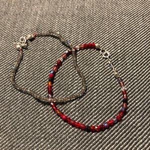Jewelry - 2x Multicolored beaded bracelets